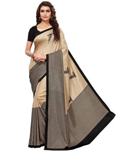Cream White Color Maalgudi Silk Women's Saree - MUTA1773