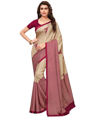 Cream White Color Maalgudi Silk Women's Saree - MUTA1774