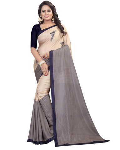 Cream White Color Maalgudi Silk Women's Saree - MUTA1775