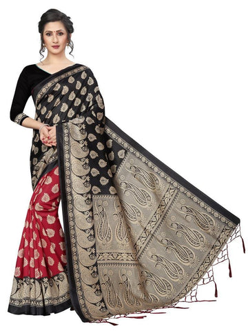 Black Color Banarasi Art Silk Women's Saree - MUTA1838