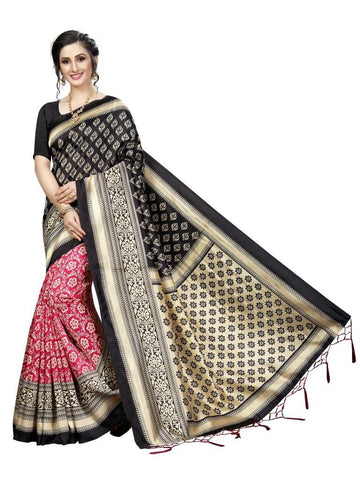 Black Color Banarasi Art Silk Women's Saree - MUTA1843