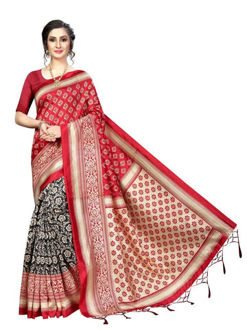 Red Color Banarasi Art Silk Women's Saree - MUTA1845