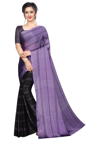 Purple Color Black Silk Women's Saree - MUTA1972