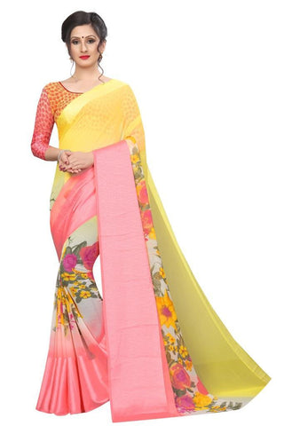 Yellow Color Satin Women's Saree - MUTA1988