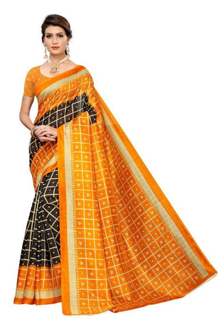 Black Color Art Silk Women's Saree - MUTA2007