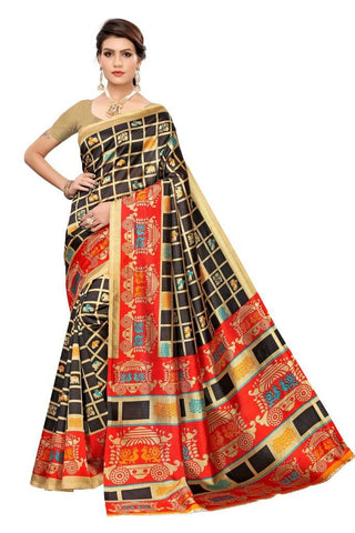 Black Color Art Silk Women's Saree - MUTA2027