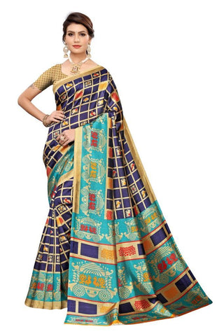 Navy Blue Color Art Silk Women's Saree - MUTA2028