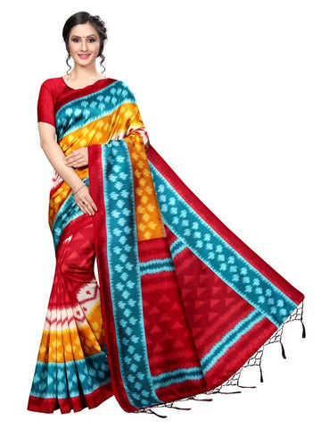 Red Color Banarasi Art Silk Women's Saree - MUTA2038