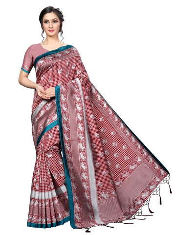 Red Color Banarasi Art Silk Women's Saree - MUTA2042