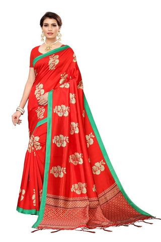 Red Color Banarasi Art Silk Women's Saree - MUTA2054