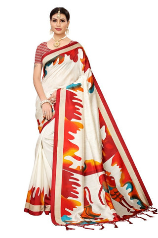 Red Color Banarasi Art Silk Women's Saree - MUTA2061