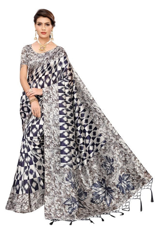 Navy Blue Color Banarasi Art Silk Women's Saree - MUTA2084