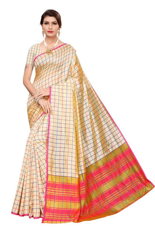 Beige Color Cotton Silk Women's Saree - MUTA2102
