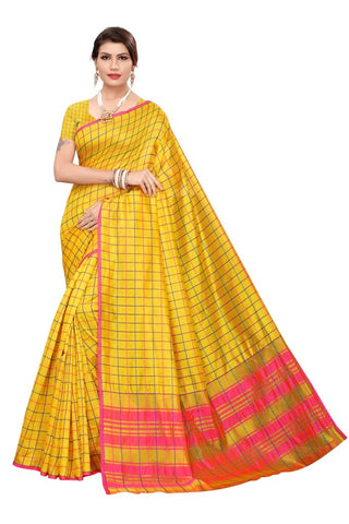 Yellow Color Cotton Silk Women's Saree - MUTA2105