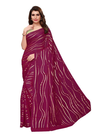 Violet Color Rangoli Silk Women's Saree - MUTA2136
