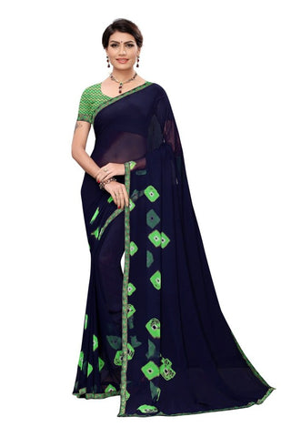 Black Color Chiffon Women's Saree - MUTA2197