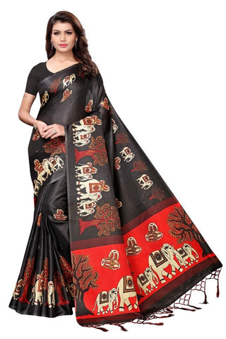 Black Color Khadi Silk Women's Saree - MUTA2211