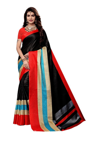 Black Color Khadi Silk Women's Saree - MUTA2223