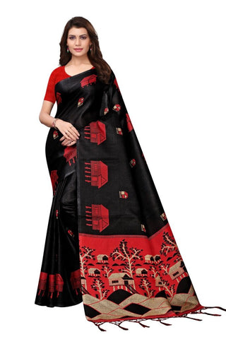Black Color Khadi Silk Women's Saree - MUTA2230