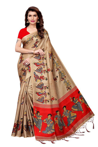 Beige Color Khadi Silk Women's Saree - MUTA2271