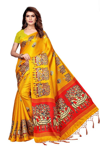 Yellow Color Khadi Silk Women's Saree - MUTA2293