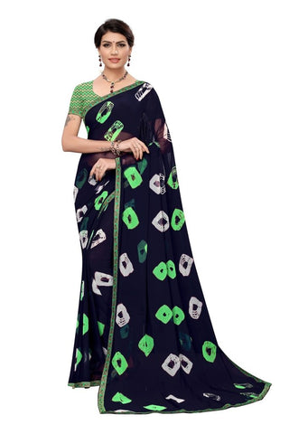 Black Color Chiffon Women's Saree - MUTA2297