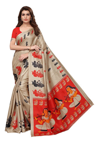 Beige Color Khadi Silk Women's Saree - MUTA2307