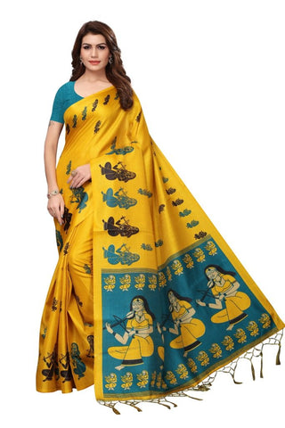 Yellow Color Khadi Silk Women's Saree - MUTA2310