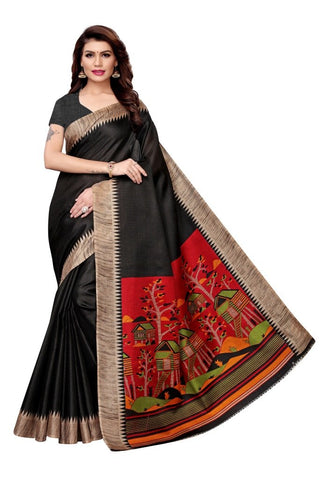 Black Color Khadi Silk Women's Saree - MUTA2311