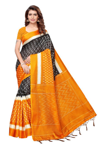 Yellow Color Khadi Silk Women's Saree - MUTA2315