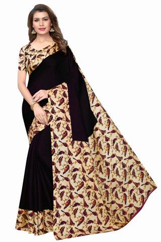 Black Color Khadi Silk Women's Saree - MUTA2318