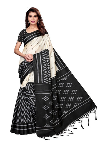 Black Color Khadi Silk Women's Saree - MUTA2329