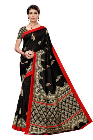 Black Color Art Silk Women's Saree - MUTA2350