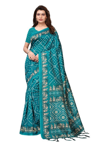 Aqua Blue Color Art Silk Women's Saree - MUTA2359