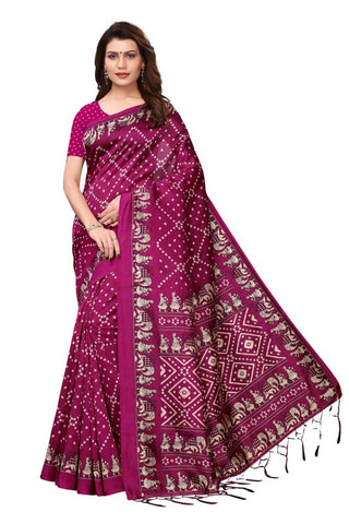 Dark Pink Color Art Silk Women's Saree - MUTA2361