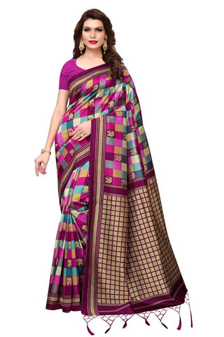Dark Pink Color Art Silk Women's Saree - MUTA2368