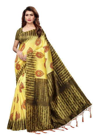 Yellow Color Art Silk Women's Saree - MUTA2385