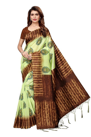 Baby Green Color Art Silk Women's Saree - MUTA2387