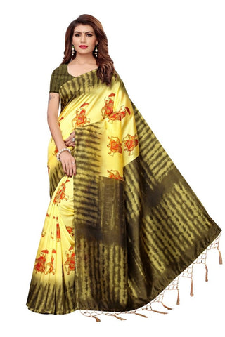 Yellow Color Art Silk Women's Saree - MUTA2396