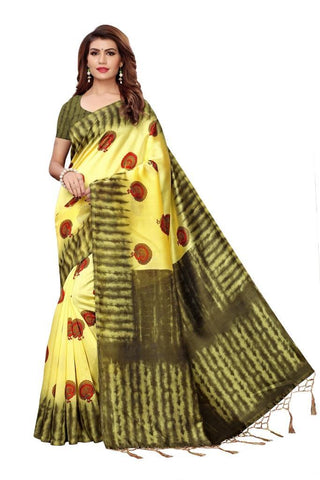 Yellow Color Art Silk Women's Saree - MUTA2401