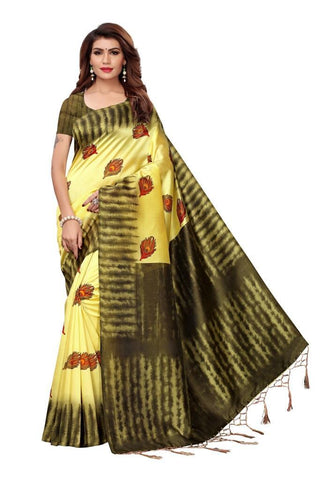 Yellow Color Art Silk Women's Saree - MUTA2405