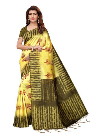 Yellow Color Art Silk Women's Saree - MUTA2409