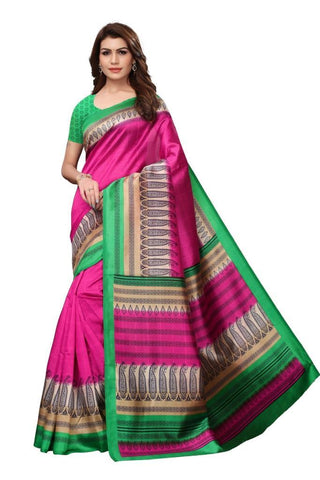 Pink Color Art Silk Women's Saree - MUTA2422