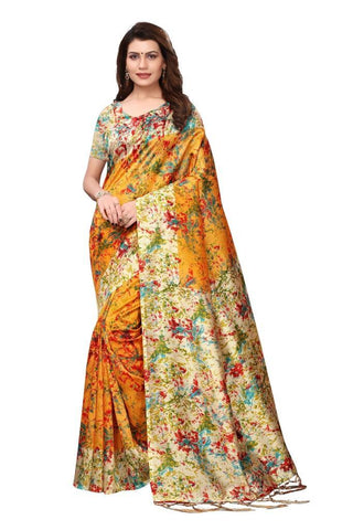 Yellow Color Art Silk Women's Saree - MUTA2427