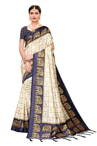 Navy Blue Color Art Silk Women's Saree - MUTA2439