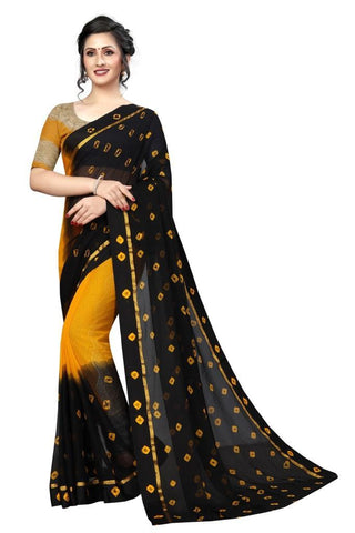 Yellow Color Chiffon Women's Saree - MUTA2480