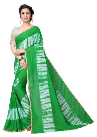 Green Color Chiffon Women's Saree - MUTA2484