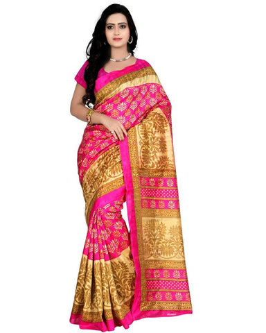 Pink Color Art Silk Women's Saree - MUTA28