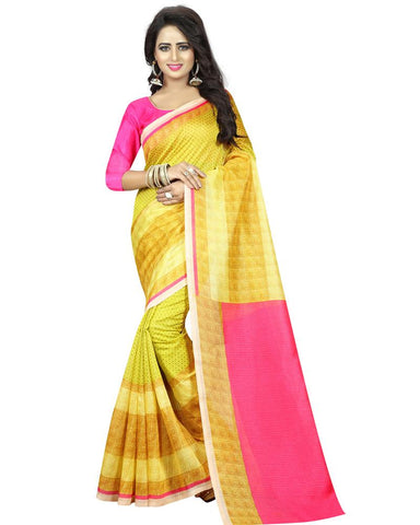 Yellow Color Banglori Silk Women's Saree - MUTA780