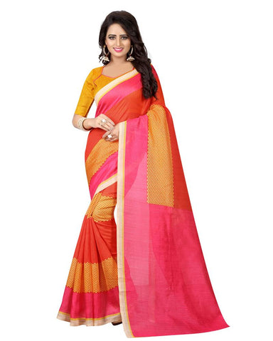 Pink Color Banglori Silk Women's Saree - MUTA781
